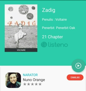 Zadiq Audio Book Listeno