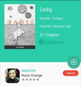 Zadiq Audio Book Listeno